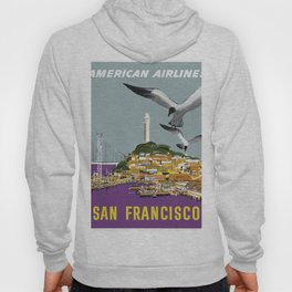 Vintage Travel Poster - San Francisco Hoody