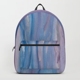 Touching Purple Blue Watercolor Abstract #2 #painting #decor #art #society6 Backpack