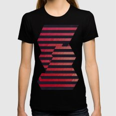 slyg stryyp Black SMALL Womens Fitted Tee