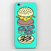 burger iPhone & iPod Skins featuring Burger by Jan Luzar