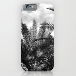 Vintage Palm Trees Floating in Tropical Clouds iPhone Case