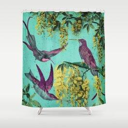 Hummingbirds of California Shower Curtain