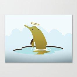 God's Zoo: Baiji Dolphin Canvas Print