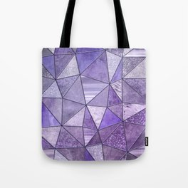 Purple Lilac Glamour Shiny Stained Glass Tote Bag