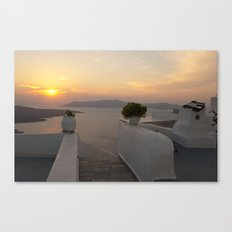 Santorini sunset Canvas Print