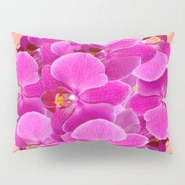 PEACHY CERISE PURPLE ORCHID CLUSTER Pillow Sham