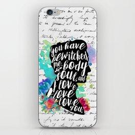 Mr.Darcy - I Love You iPhone Skin
