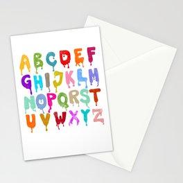 Alphabet Drips Stationery Cards