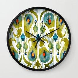 indian cucumbers balinese ikat print Wall Clock