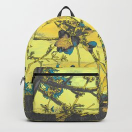 Blossoms Abstract Yellow Backpack