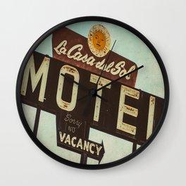 La Casa Del Sol Vintage Motel Sign Wall Clock