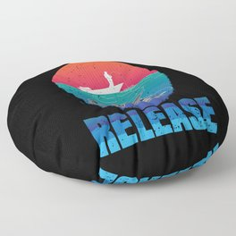 Fishing from Boat Catch and Release Floor Pillow