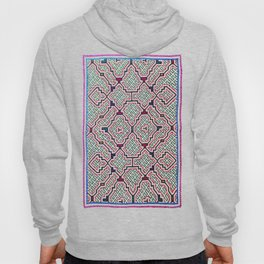 Song for Good Work - Traditional Shipibo Art - Indigenous Ayahuasca Patterns Hoody