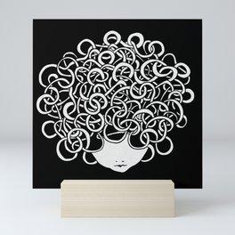 Iconia Girls - Anna Black Mini Art Print