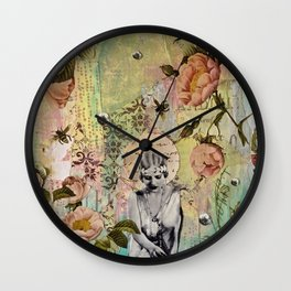 Waiting For Her Moment Wall Clock