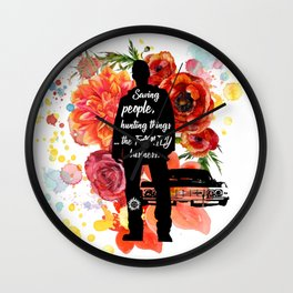 Dean Winchester Quote Wall Clock