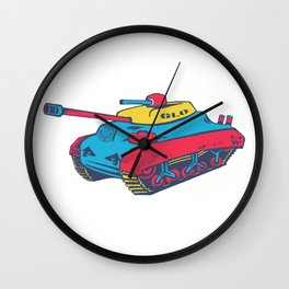 Good Lookout Toy Tank Wall Clock