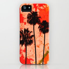 Palm Tree Paint iPhone Case