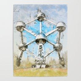 Atomium Brussels, Belgium Poster