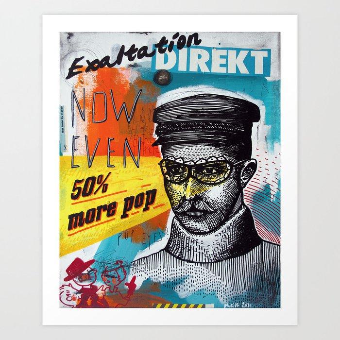 50% more pop Art Print