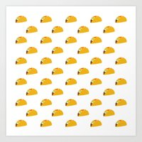 taco Art Prints featuring Taco Taco by Hello Sleepywhale