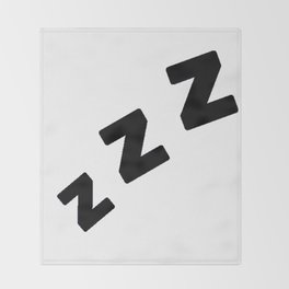 Zzzs in Black Throw Blanket