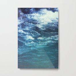 mountain river blue Metal Print