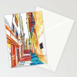 Coloring book Southern Europe Cities: Palermo colored Stationery Cards