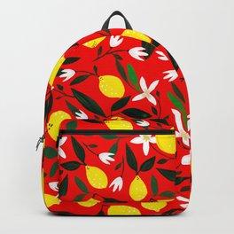 Lemons Red Backpack