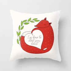 Steal Your Heart Throw Pillow