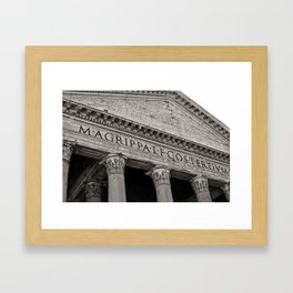 The Pantheon black and white Framed Art Print
