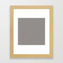 Bridal Blush and Black Polka Dots Framed Art Print
