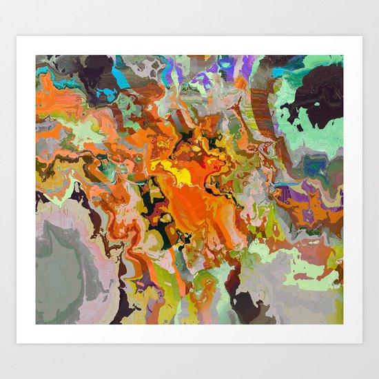 Golden Veins A Art Print