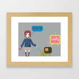 Never Knows Best Framed Art Print