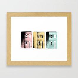 Jellybean Homes Framed Art Print