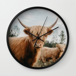 The Curious Cow Wall Clock
