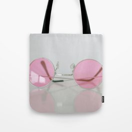 When setting up a rose-colored glasses... Tote Bag