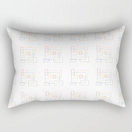 Squares vibes Rectangular Pillow