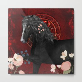 Awesome black horse Metal Print