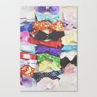 bows Canvas Prints featuring Bows by Libertad Leal Photography