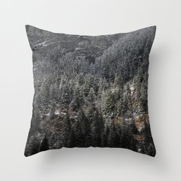 Powdered Mountain Throw Pillow