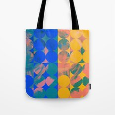 Pop Art Pattern Abstract in Yellow and Blue Tote Bag