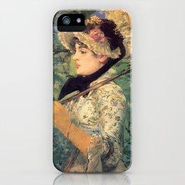 Le Printemps, Edouard Manet iPhone Case