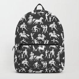 Greek Figures // Dark Grey Backpack