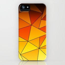Dark Gooseberry Geometric Ombre iPhone Case