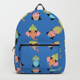 Blue Krishna, Ganesha, and Hanuman Backpack