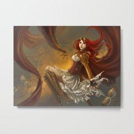 Steampunk Time Witch Metal Print