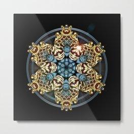 Decorative Golden Tin Metal Print