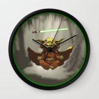 yoda Wall Clocks featuring Yoda by Marc Vuletich