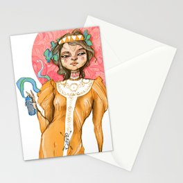 The Golden Lady Stationery Cards